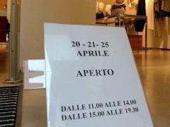 Centri commerciali aperti il 25 aprile e 1 maggio