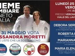 Boschi, Madia, Pinotti e Serracchiani a Verona: il rilancio del Veneto parte da qui