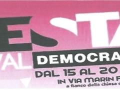 Dibattito alla Festa Democratica Saval