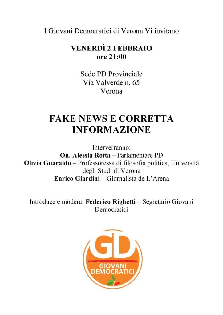 FAKE NEWS E CORRETTA INFORMAZIONE @ Sede Provinciale PD   Verona   Veneto   Italia