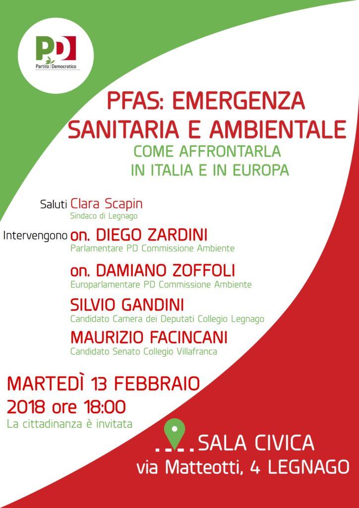 PFAS: EMERGENZA SANITARIA E AMBIENTALE: come affrontarla in Italia e in Europa @ sala civica   Legnago   Veneto   Italia