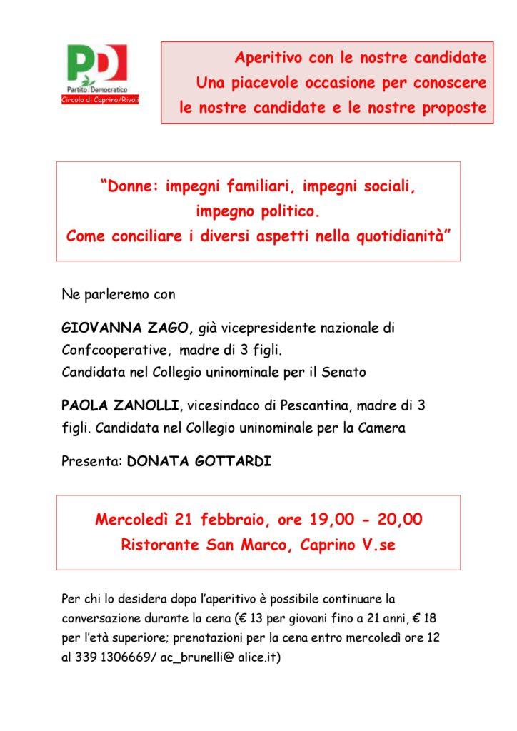 Aperitivo con le nostre candidate. Una piacevole occasione per conoscere le nostre candidate e le nostre proposte @ Ristorante San Marco    Caprino Veronese   Veneto   Italia