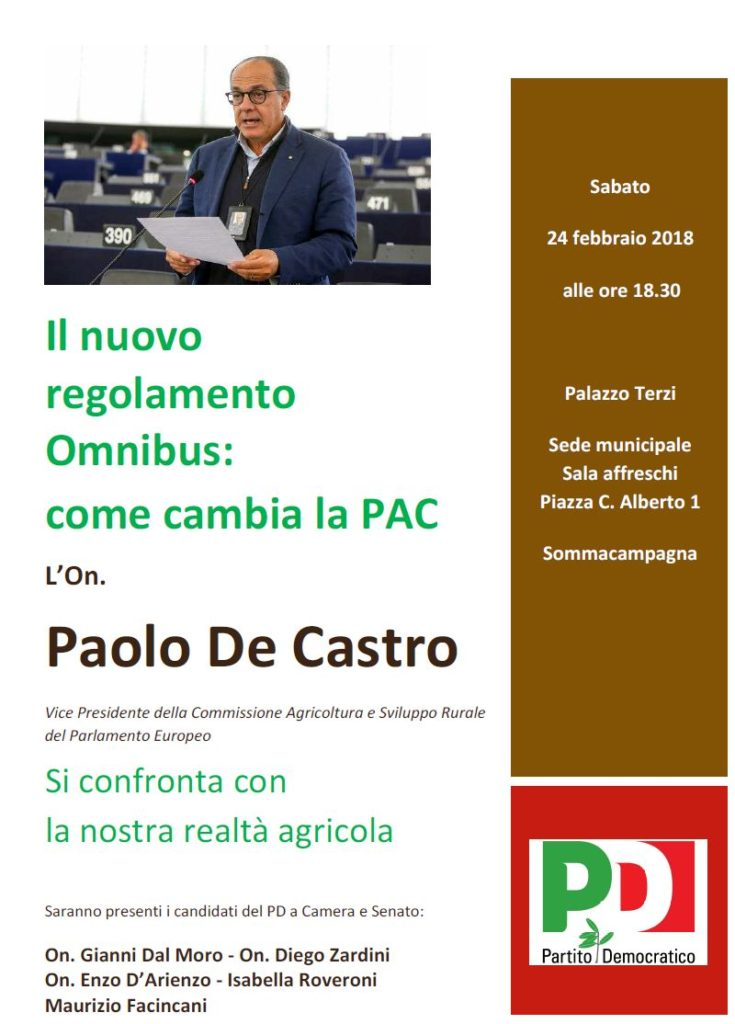 On. Paolo De Castro