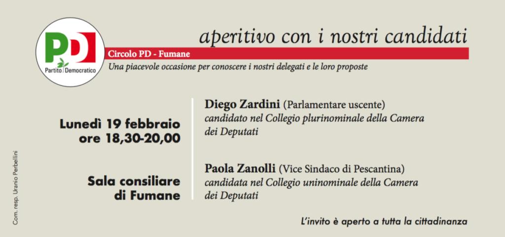 A Fumane aperitivo con i nostri candidati @ Sala Consiliare   Fumane   Veneto   Italia