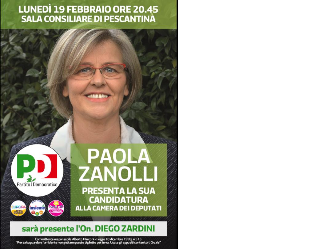 Paola Zanolli presenta la sua candidatura alla Camera dei Deputati @ sala consiliare   Pescantina   Veneto   Italia