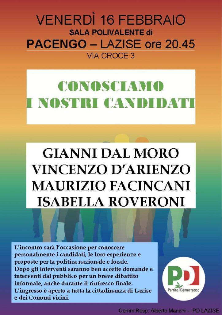 Conosciamo i nostri candidati @ Sala Polivalente   Pacengo   Veneto   Italia