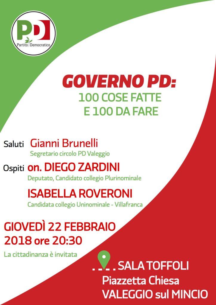 GOVERNO PD: cento cose fatte e 100 da fare @ Sala Toffoli Piazzetta della Chiesa   Valeggio Sul Mincio   Veneto   Italia