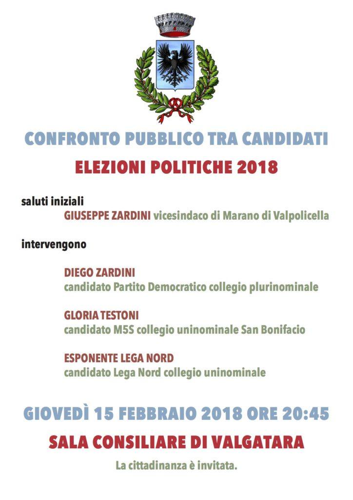 CONFRONTO PUBBLICO TRA CANDIDATI - ELEZIONI POLITICHE 2018 @ sala consiliare    Valgatara   Veneto   Italia