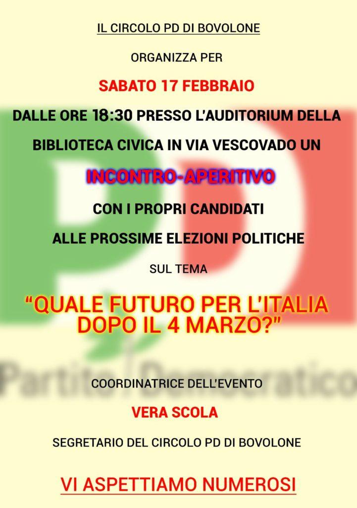Circolo Pd Bovolone - Incontro con i candidati Elezioni politiche @ Auditorium della Biblioteca civica   Bovolone   Veneto   Italia