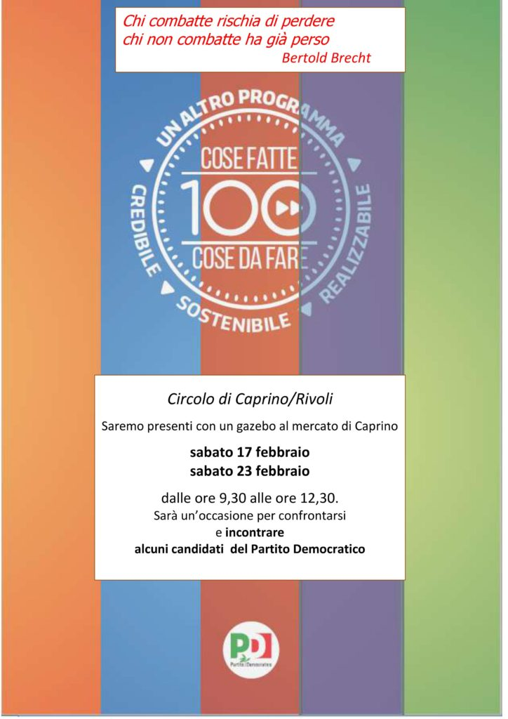 Incontro con i candidati del Partito Democratico @ Piazza del mercato    Caprino Veronese   Veneto   Italia