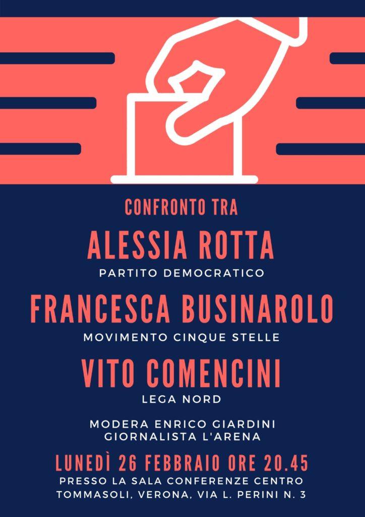 CONFRONTO TRA CANDIDATI @ sala conferenze Centro Tommasoli   Verona   Veneto   Italia