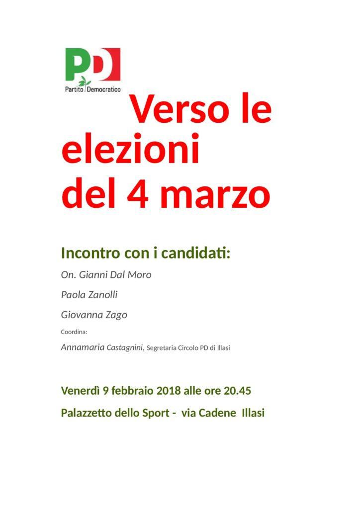 Verso le elezioni del 4 marzo @ Palazzetto dello Sport   Illasi   Veneto   Italia