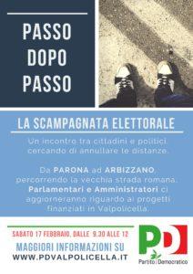 Passo dopo passo - la scampagnata elettorale @ Da Parona a Arbizzano   Arbizzano-Santa Maria   Veneto   Italia