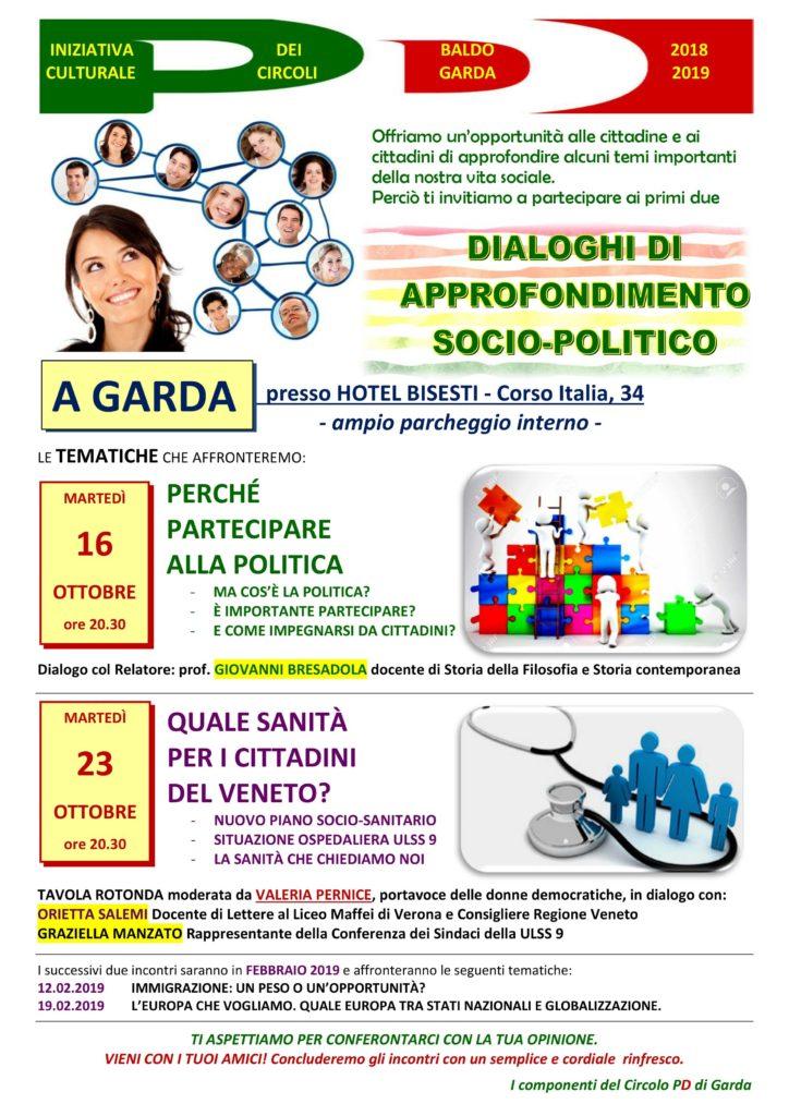 Iniziativa culturale dei circoli PD BALDO-GARDA @ Hotel Bisesti (ampio parcheggio interno) | Garda | Veneto | Italia