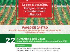 Agricoltura, Legge di stabilità, Europa, turismo e cambiamenti climatici.
