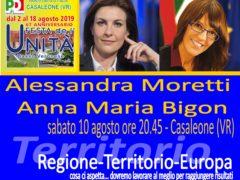 Festa de l'Unità di Casaleone, incontro con Alessandra Moretti e Anna Maria Bigon